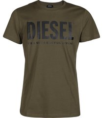 army green cotton t-shirt