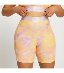 river island womens plus pink intimates tie dye cycling short