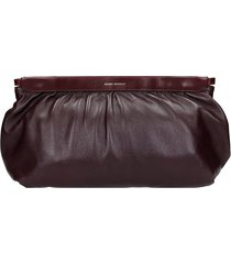 isabel marant luz clutch in bordeaux leather
