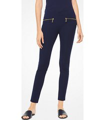 mk leggings hutton in misto cotone - navy brillante (blu) - michael kors