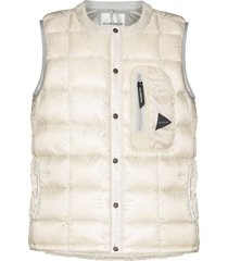 and wander reflective-detail padded gilet - neutrals