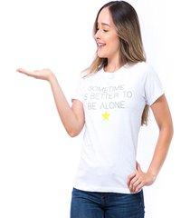 blusa silueta amplia blanco s bocared be alone 2712065