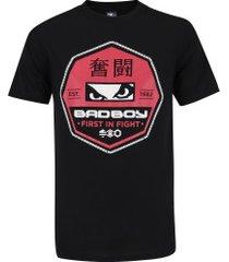 camiseta bad boy octógono - masculina - preto