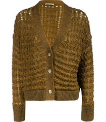 fabiana filippi vintage effect woven cardigan