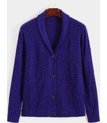 suéter de crochet hueco de un solo pecho de otoño para hombre