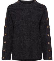 part sweater stickad tröja blå hope