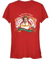 fifth sun elf buddy the best way to spread christmas cheer women's short sleeve t-shirt