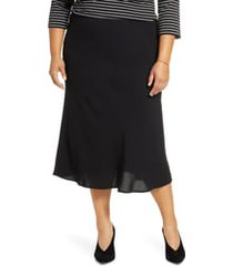 plus size women's halogen bias cut midi skirt