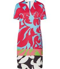 floral print jacquard t-shirt dress