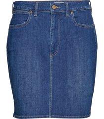 mid length skirt knälång kjol blå wrangler