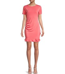 bcbgeneration women's ruffled mini dress - coral - size m