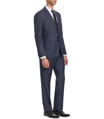 emporio armani men's g-line wool sharkskin suit - midnight - size 54 (44) r