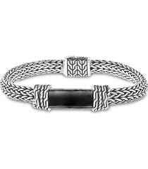 effy men's sterling silver & black onyx bracelet