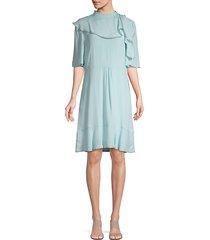 ruffle knee-length dress