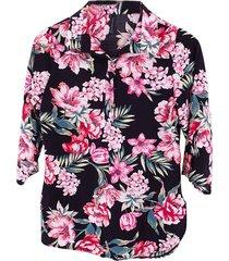 blusa chiffon bolero flores - 81110409
