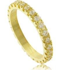 anel aliança com strass 3rs semijoias dourado