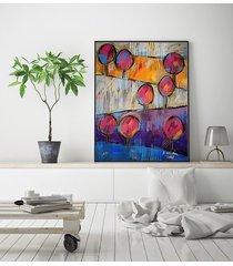 różowe drzewa - plakat 50x70
