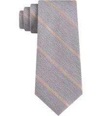 calvin klein men's small contrast stripe skinny tie
