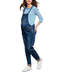 ripe straight-leg maternity denim overalls