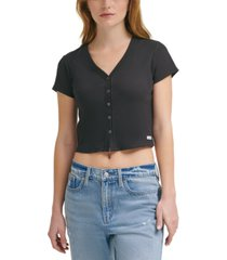 calvin klein jeans cotton crop top