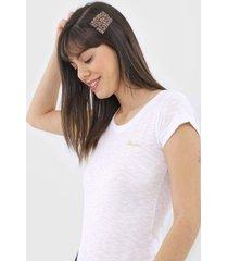 camiseta polo wear flame branca - branco - feminino - algodã£o - dafiti