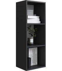 nicho parede vertical organizador multiuso funcionale preto artinmã³veis - preto - dafiti