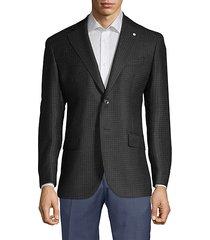 modern fit checker wool sport jacket