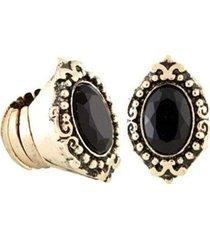 anel armazém rr bijoux ouro velho pedra preta