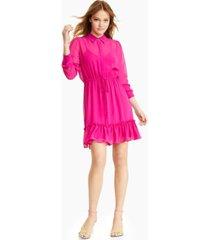 bar iii semi-sheer blouson dress, created for macy's