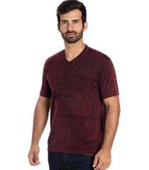 camisa le tisserand v minilinks vermelho stone