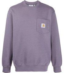 carhartt wip patch pocket sweater - purple
