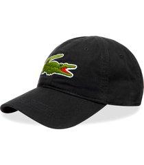 crocodile cotton logo cap - black rk4711-031