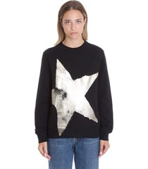 golden goose athena sweatshirt in black cotton