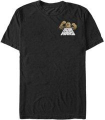 fifth sun star wars men's chewie strong left pocket short sleeve t-shirt