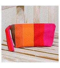 cotton wristlet, 'island colors' (el salvador)