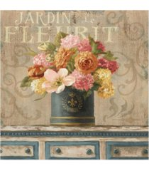 "danhui nai tulips in teal and gold hatbox canvas art - 19.5"" x 26"""
