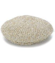 m missoni fine knit beret - gold