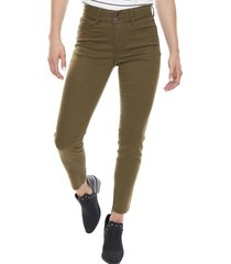 jeans color push up skinny verde militar  corona