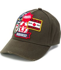 dsquared2 stitched patch baseball cap - green