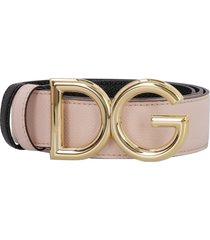 dolce & gabbana reversible leather belt