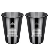 thirstystone by cambridge black jockey shirt cups - set of 2