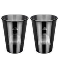 thirstystone by cambridge black jockey shirt cups - set of 2