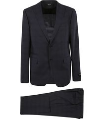 z zegna checked single-breasted suit
