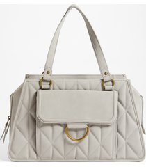 maurices womens light gray quilted satchel bag