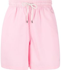 polo ralph lauren drawstring swim shorts - pink