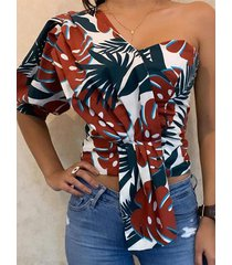 blusa tropical con medias mangas one