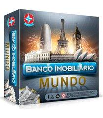 jogo de mesa banco imobiliã¡rio mundo estrela 8+ - incolor - dafiti