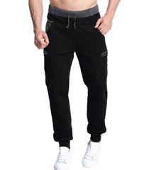 pantalones de chándal de cintura con cordón en la espalda para hombres