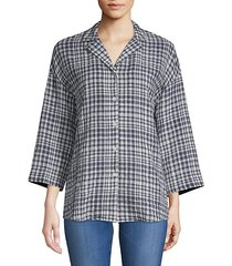 analeigh checkered blouse