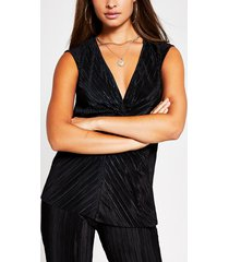 river island womens black knot front tunic top